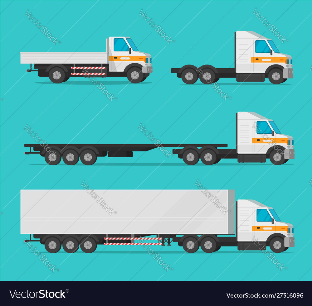 Lorry or cargo truck and delivery automobiles or
