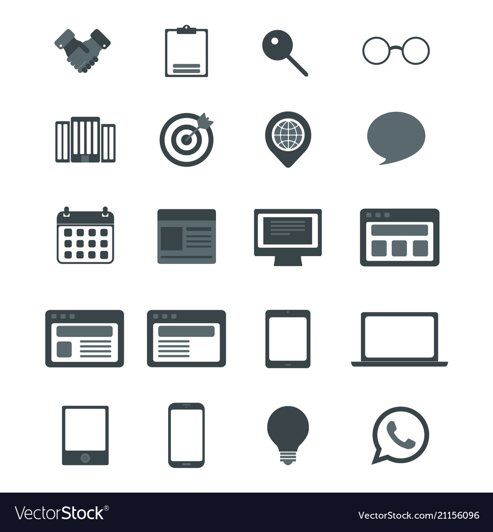 Web icons for business finance and communication