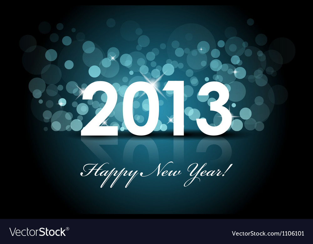 2013 - New year blue background