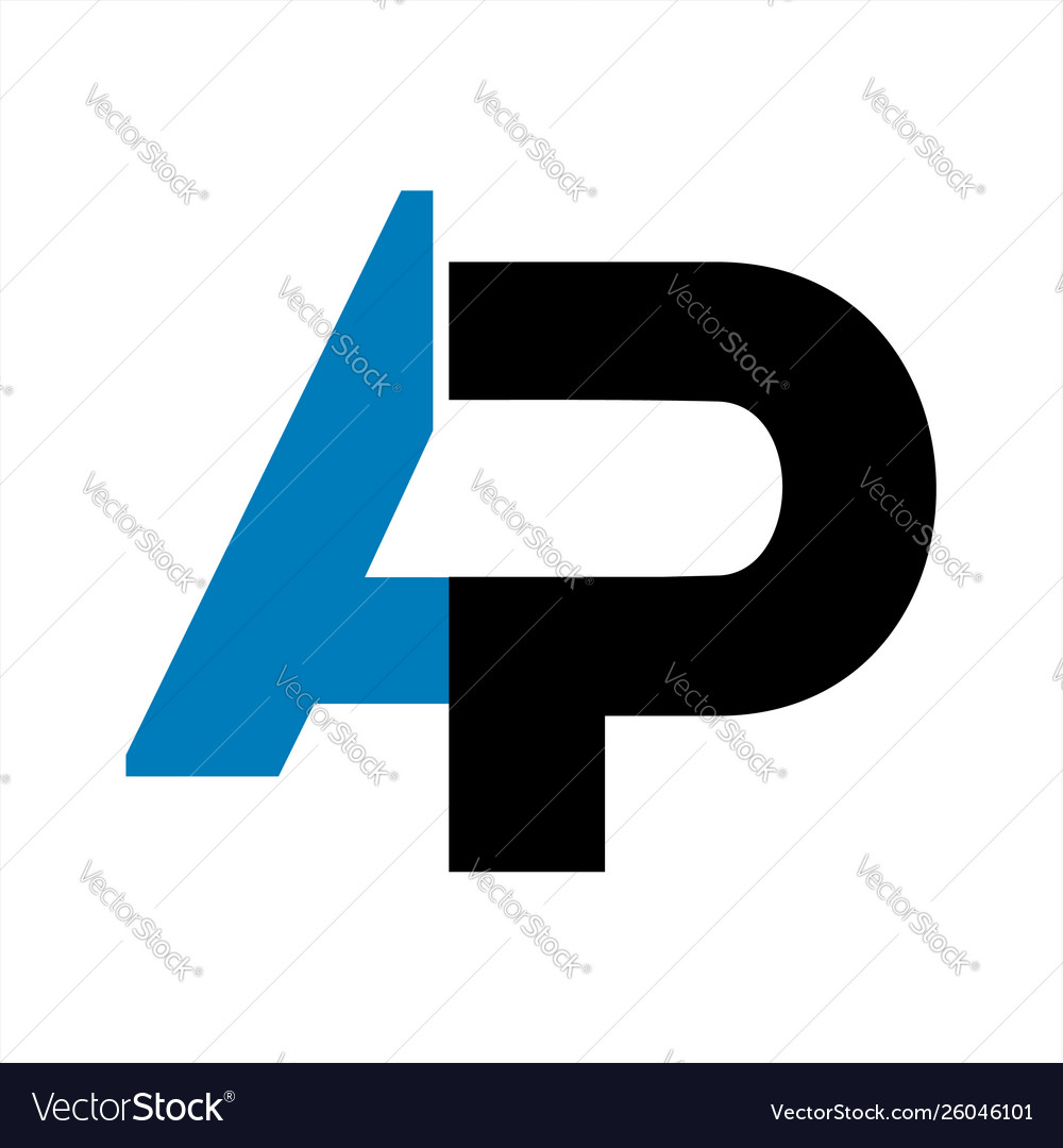 Ap initial letter company logo and icon