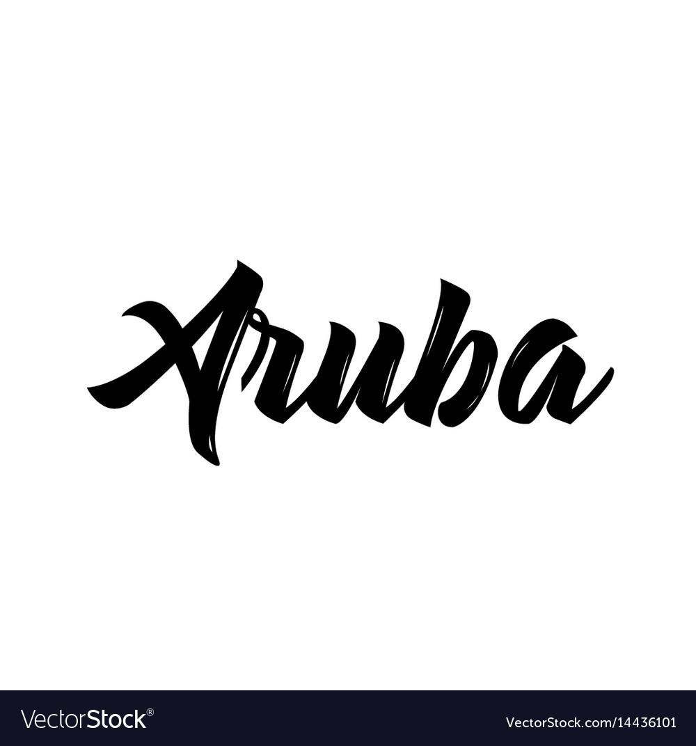 Aruba text design calligraphy typography