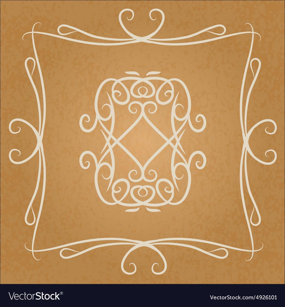 Calligraphic vintage design element