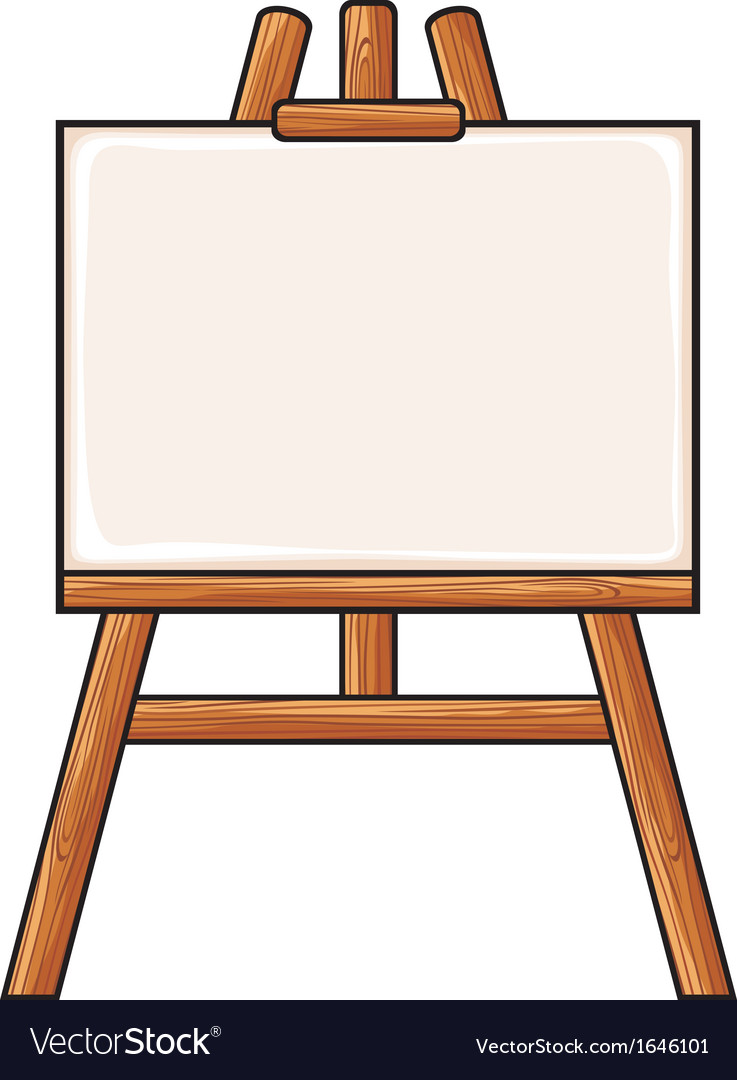canvas on an easel royalty free vector image vectorstock