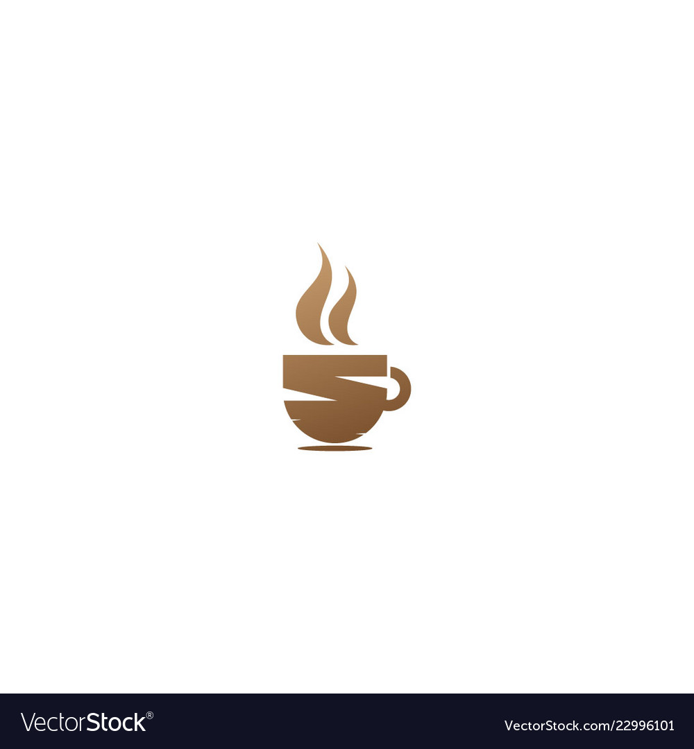 Coffee cup hot drink logo