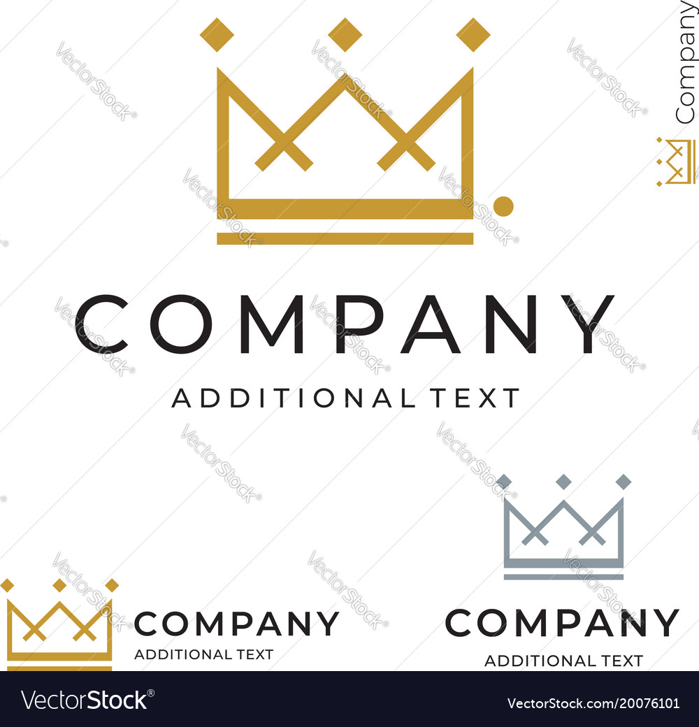 Crown logo modern identity brand icon commercial
