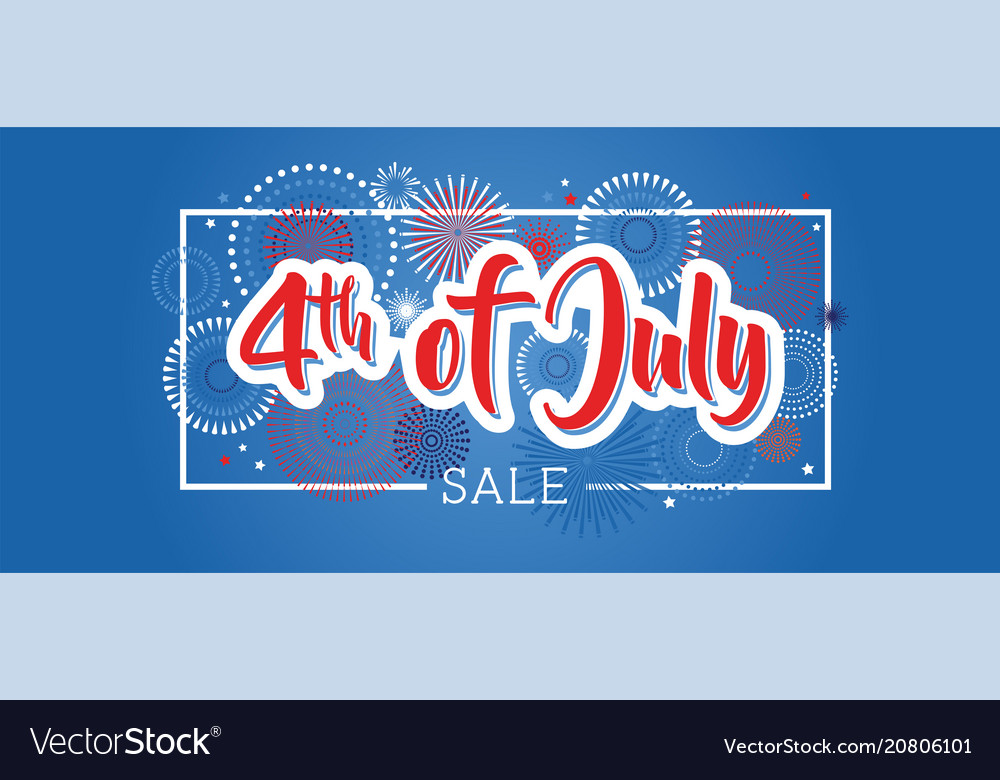 Fourth of july 4th of july holiday banner usa
