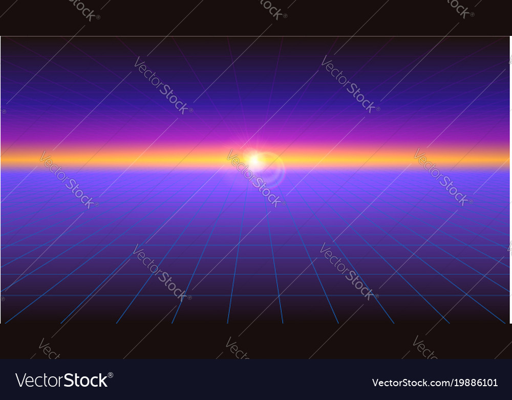 Futuristic abstract background with the sunlight