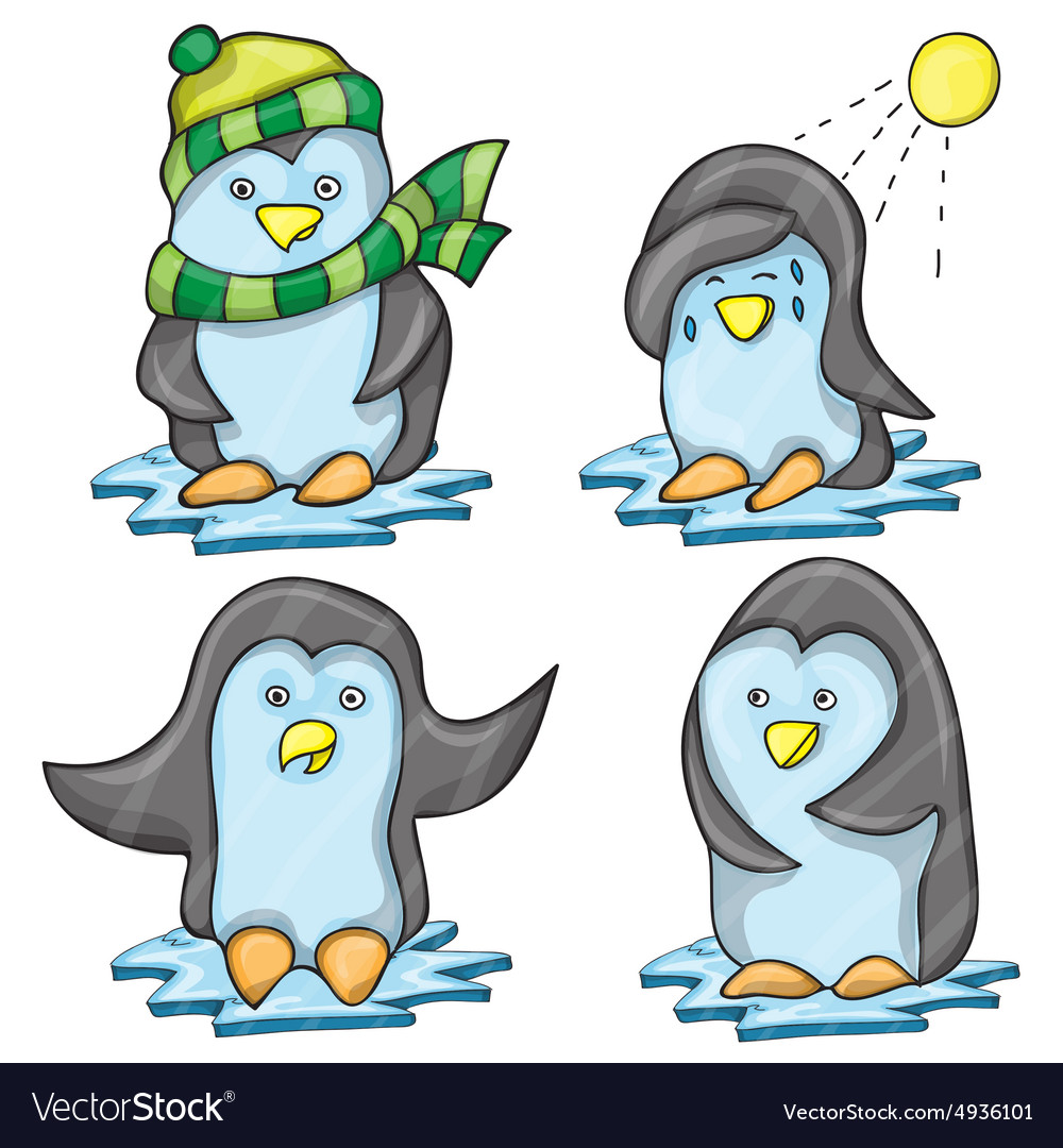 Penguin in Several Poses