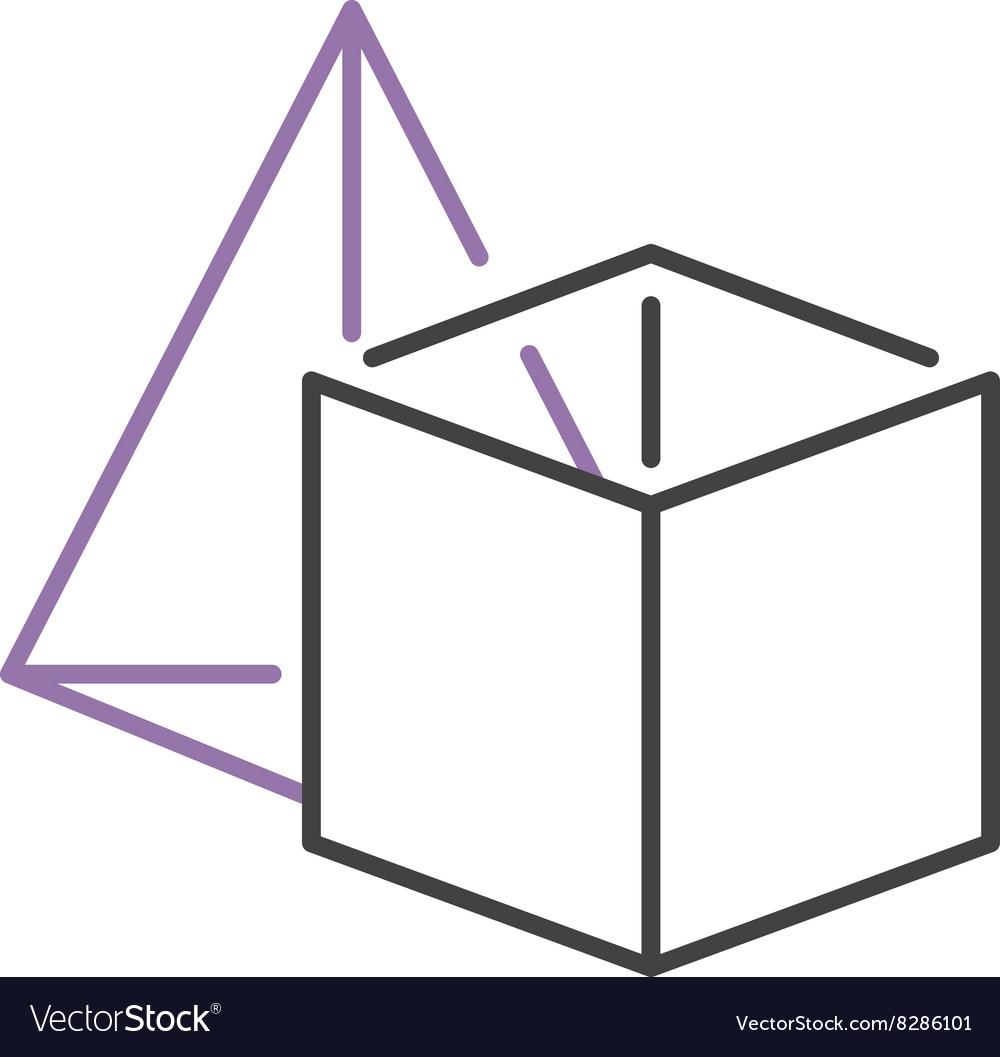 Set of geometric shapes platonic solids pyramid