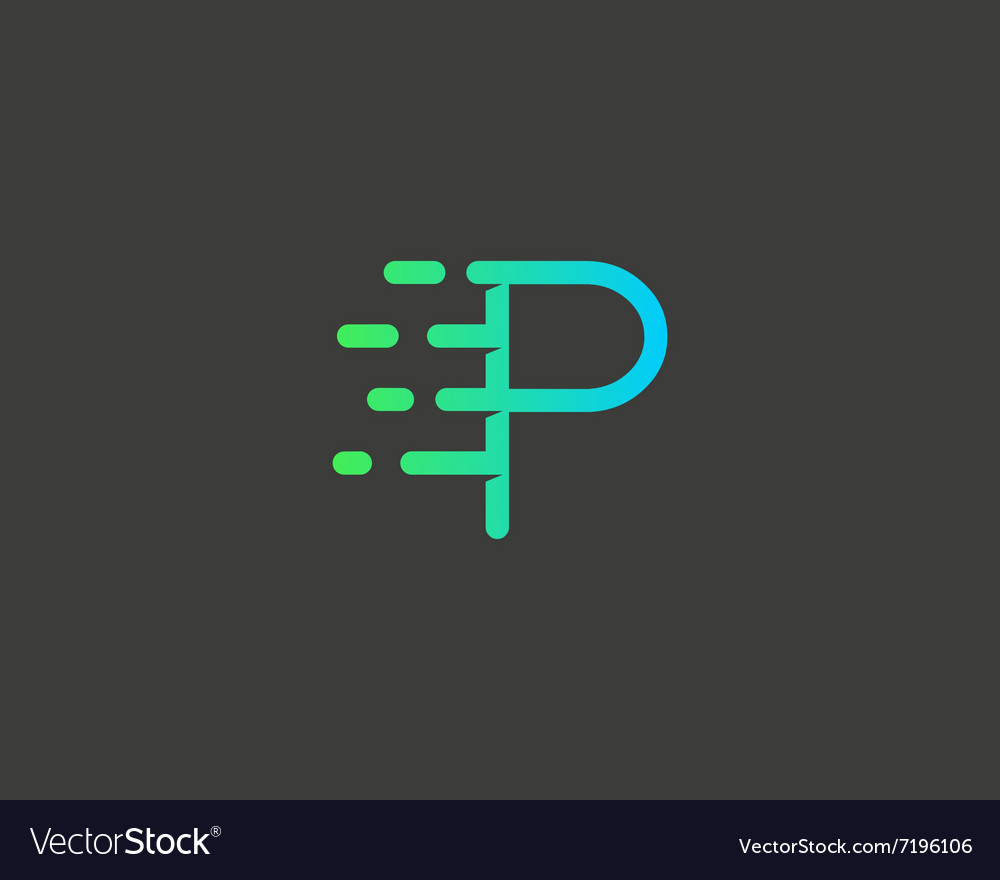 Abstract letter P logo design template Dynamic