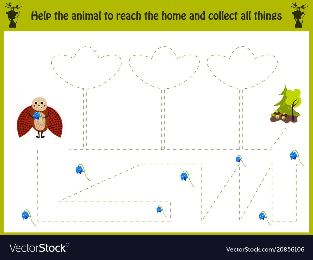Cartoon of education matching game