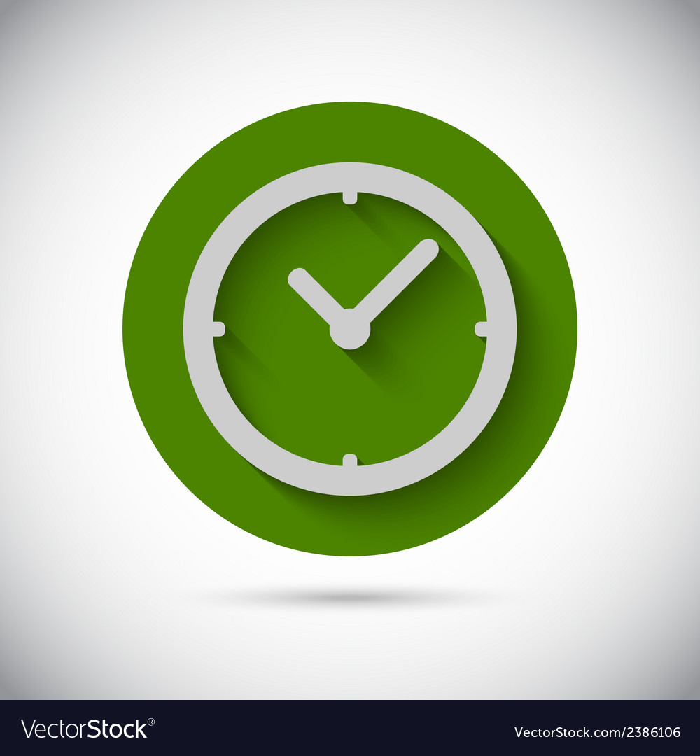 Clock watch flat icon