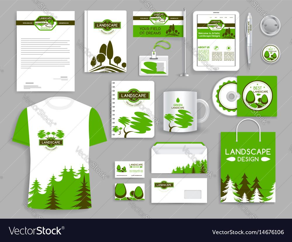 Corporate identity set landscape design company