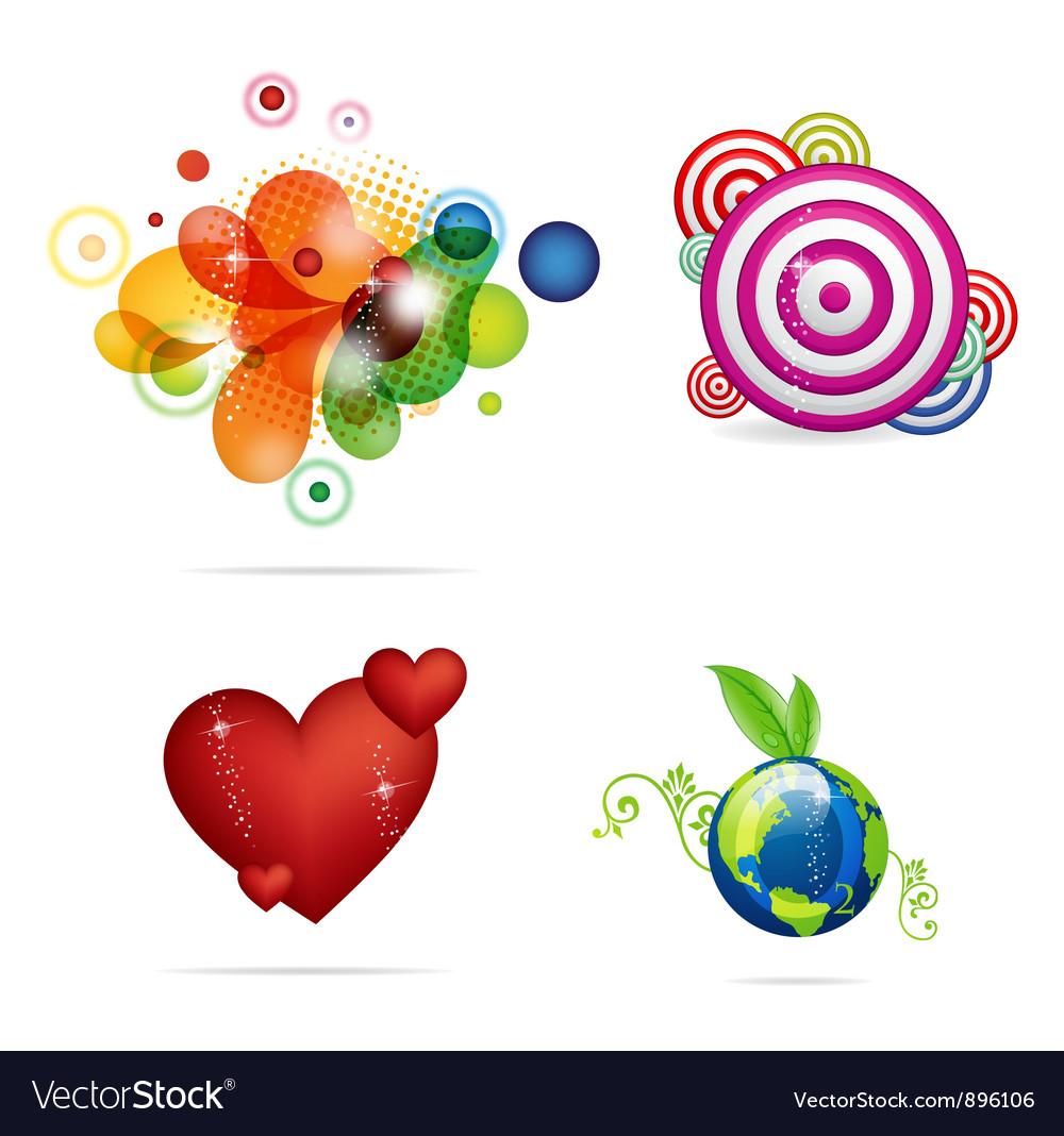 Creative and elegance magic symbols set vector image