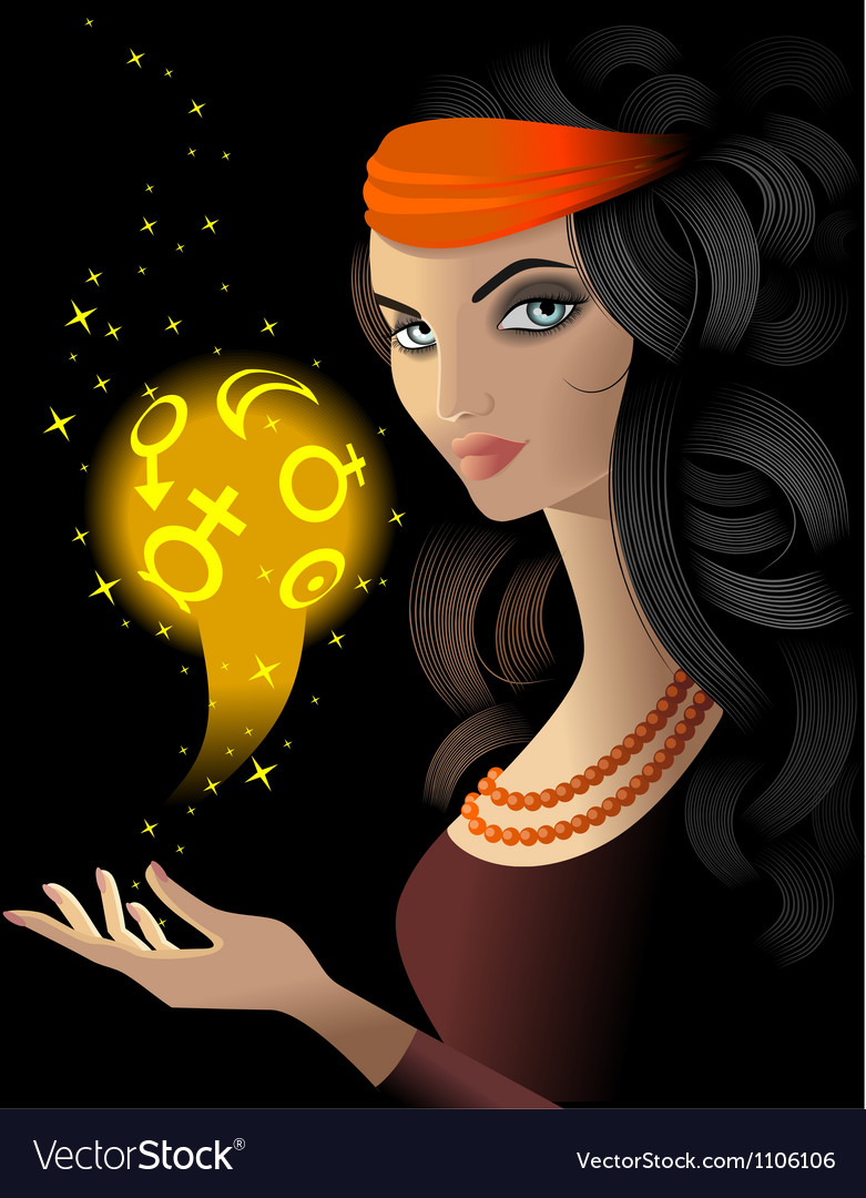 fortune teller royalty free vector image vectorstock