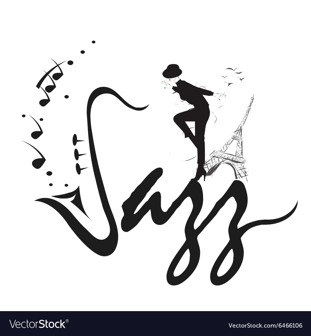 Jazz music poster background template vector image