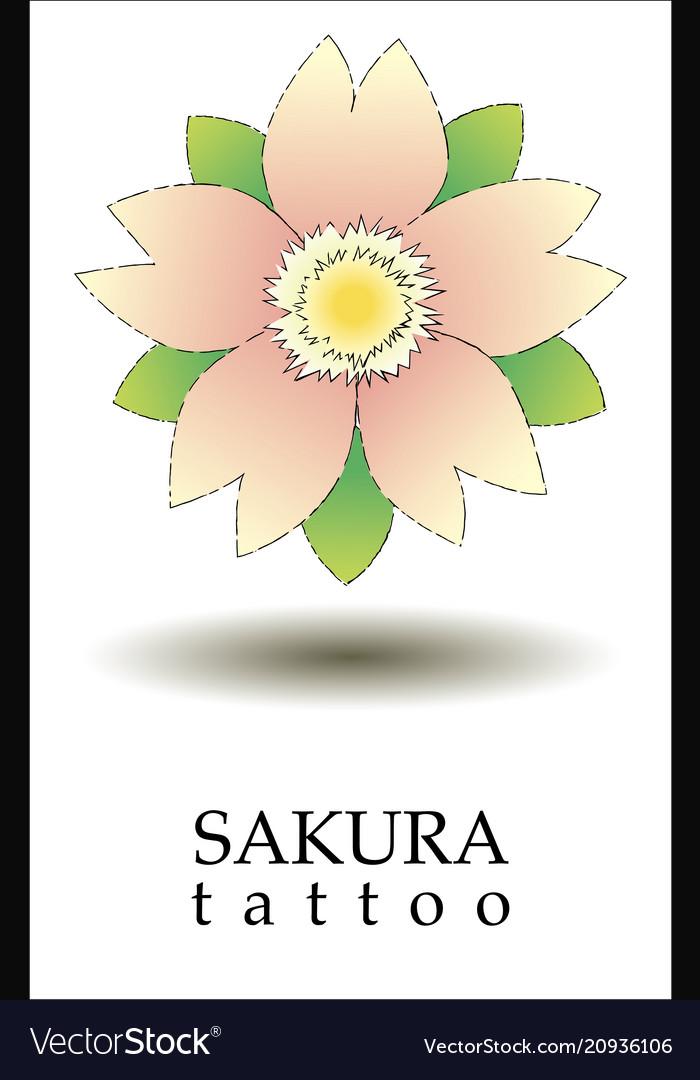 Logo sakura tattoo with tattoo style