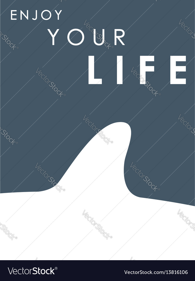 Shark fin banner with text enjoy your life