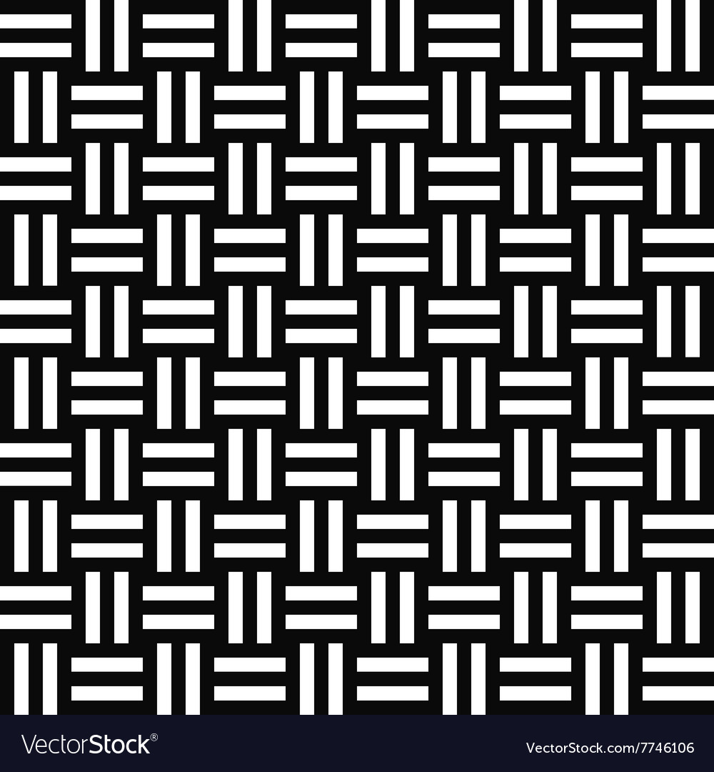 Simple repeating monochrome stripe pattern vector image