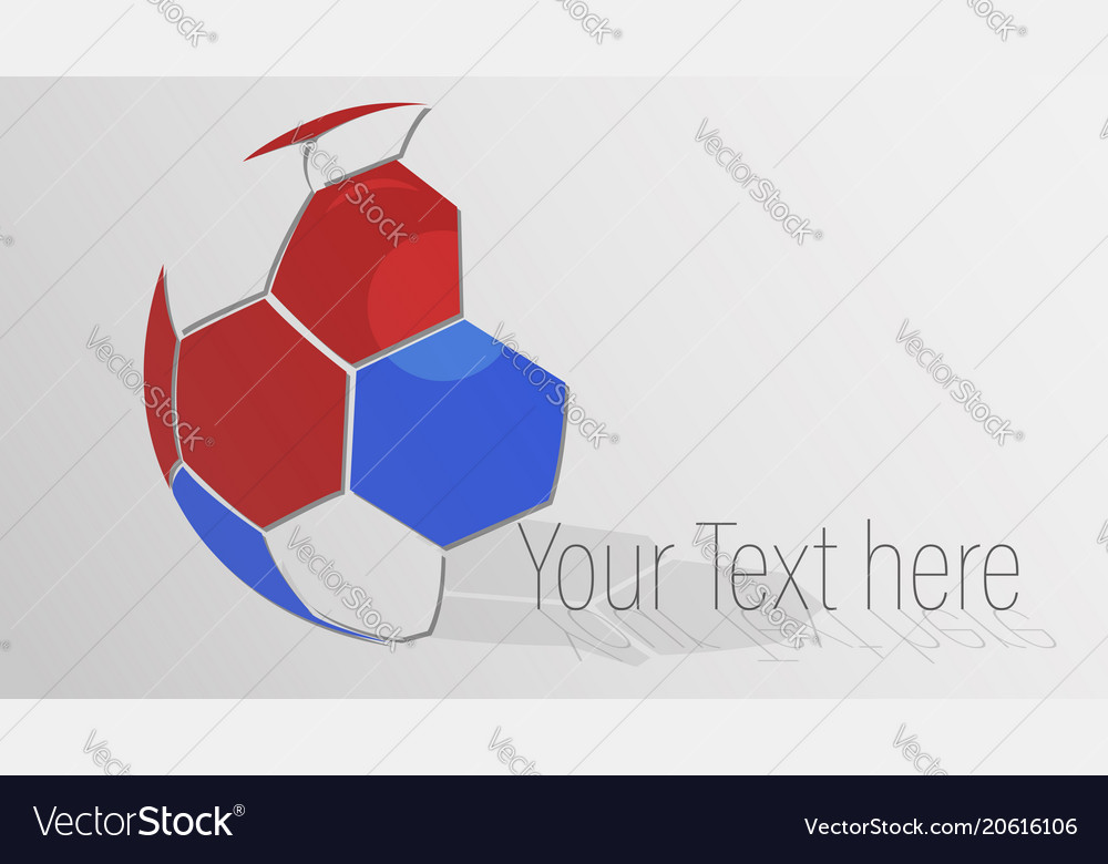 Soccer ball logo design with copy space vector image