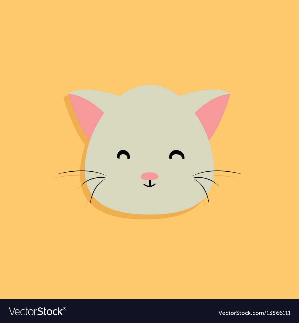 Cat cartoon face