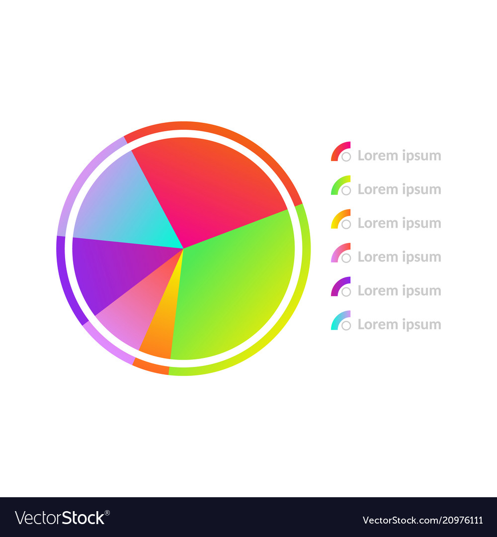 Circle diagram chart icon