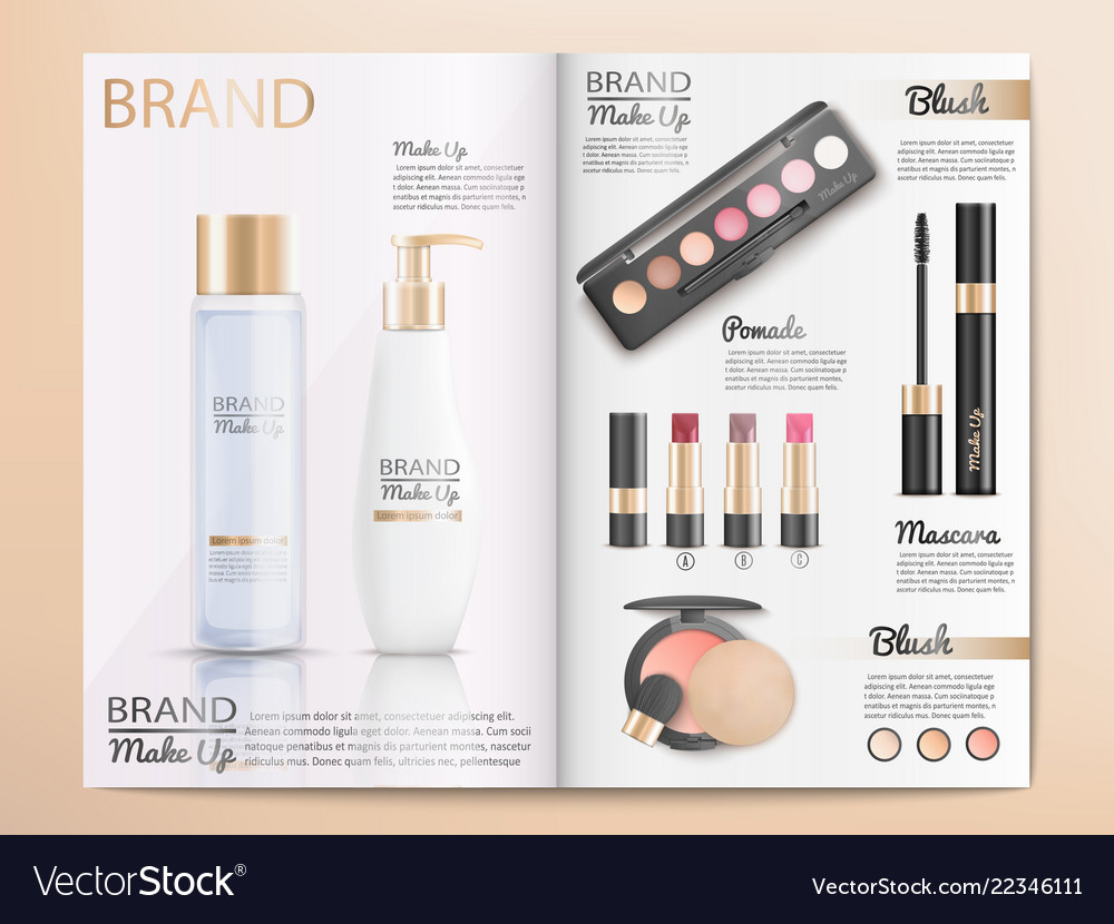 Cosmetics Products Catalog Or Brochure