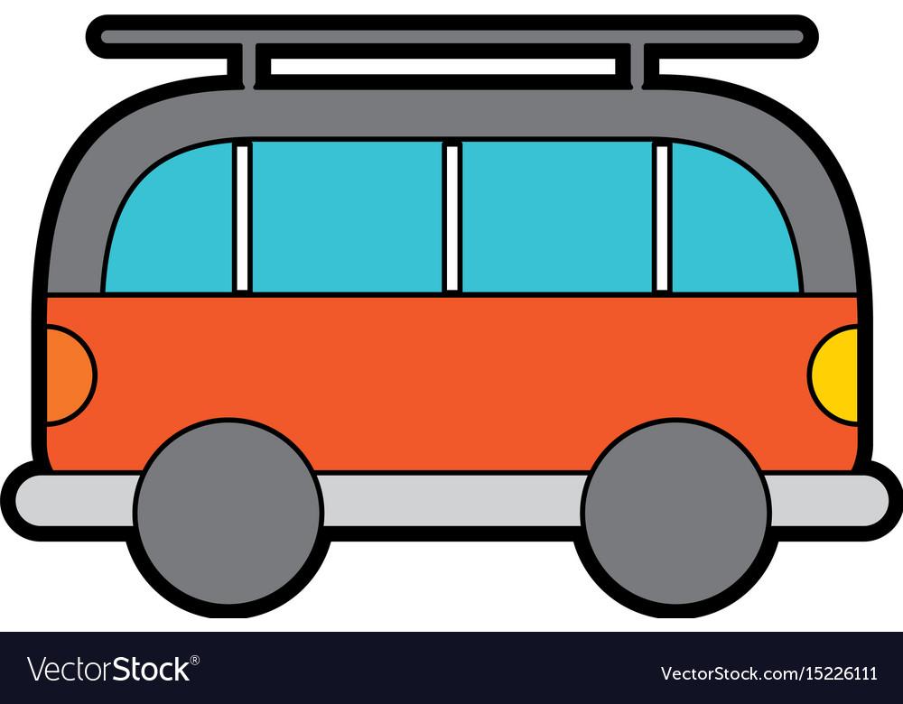 Cute orange car cartoon