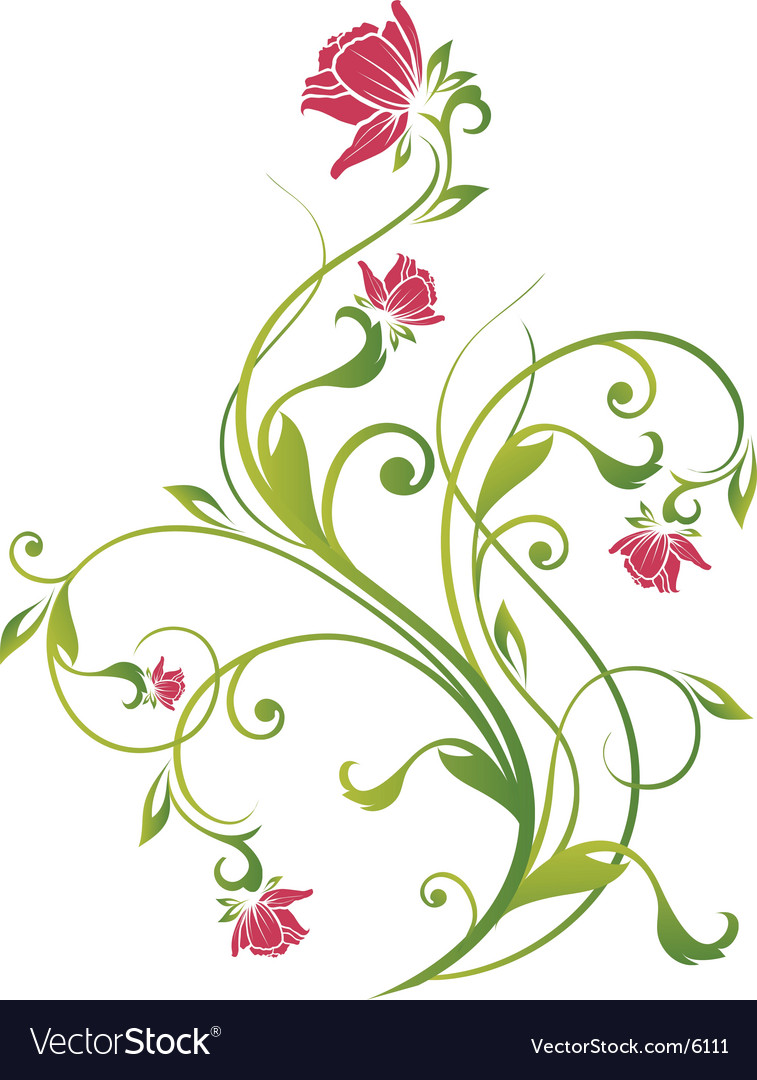 Floral vine graphic