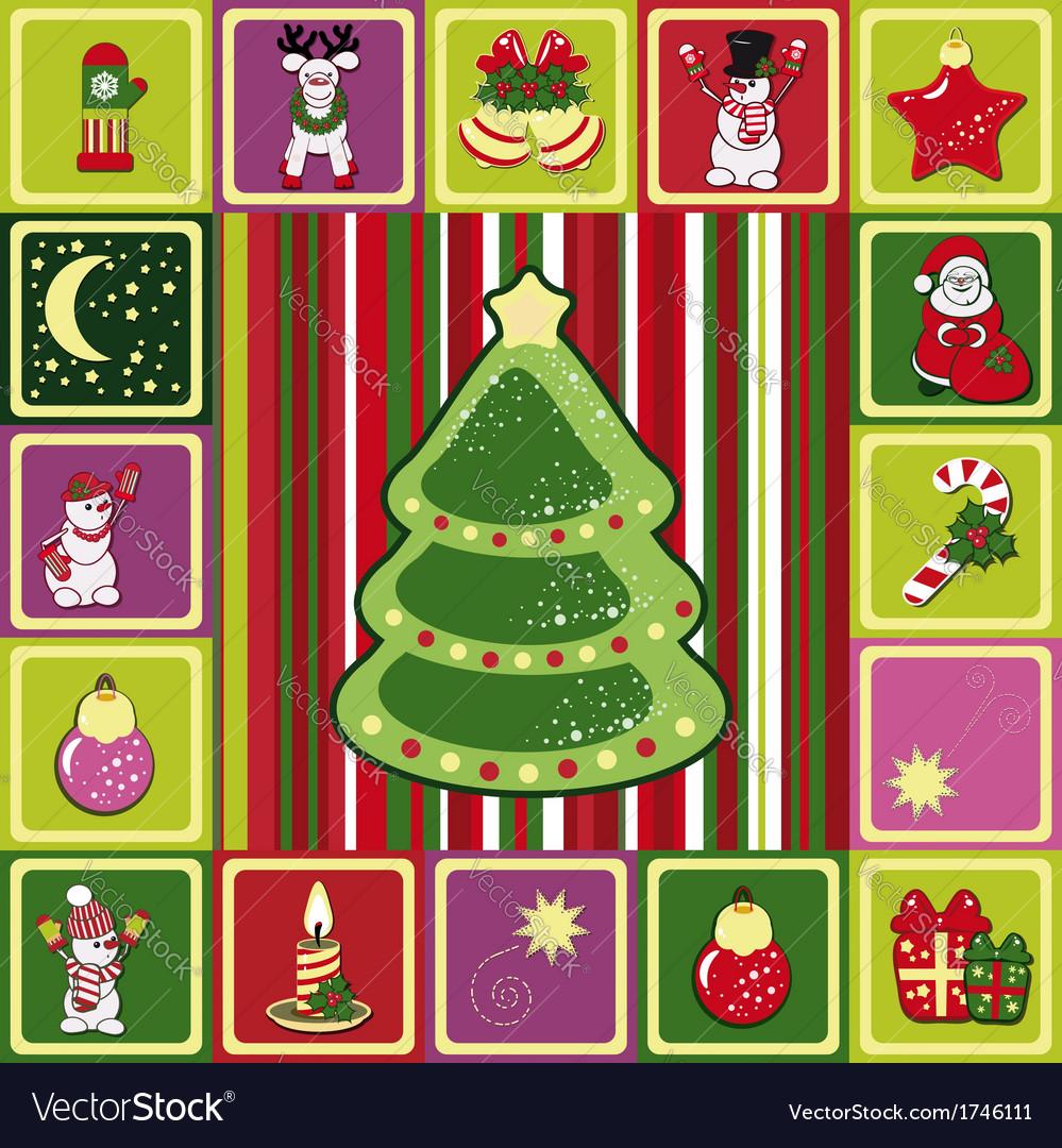 Frame christmas pattern