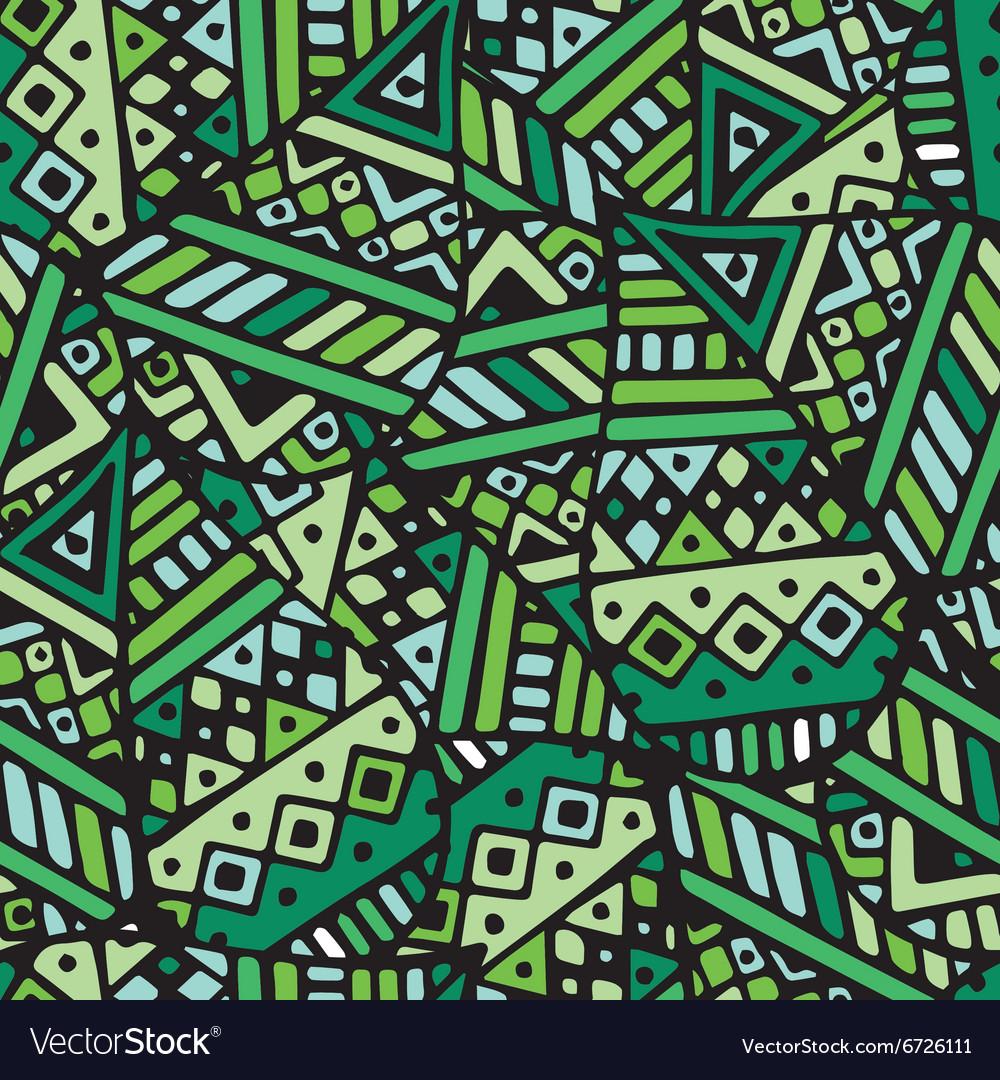 Green ethnic mexican leaf seamless pattern pr