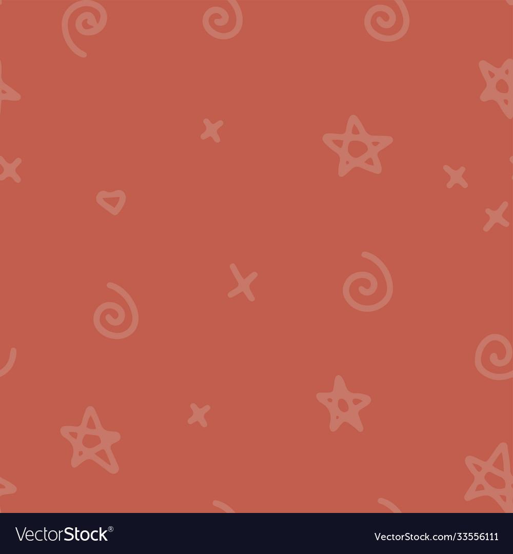 Halloween hand drawn seamless pattern with orange