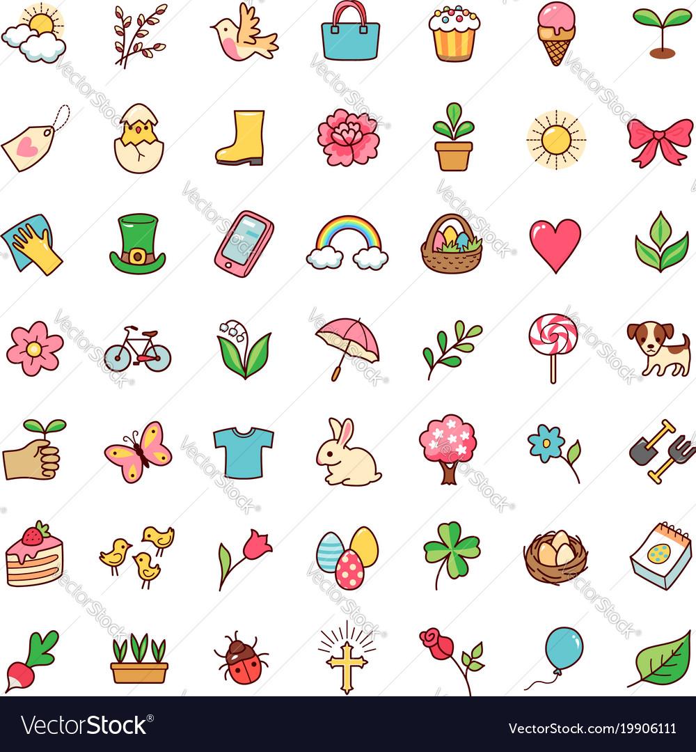 Icons springtime