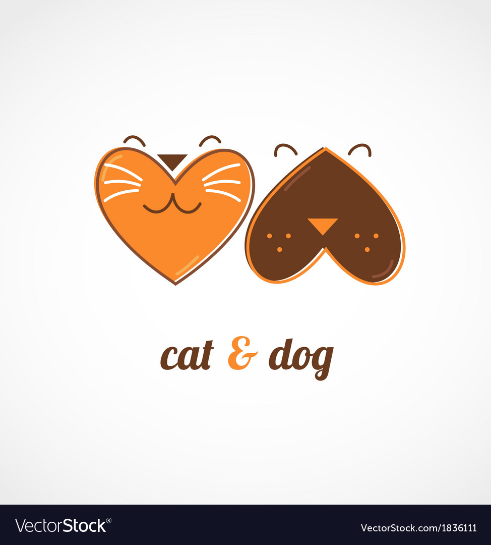 Pets icons - cats and dogs