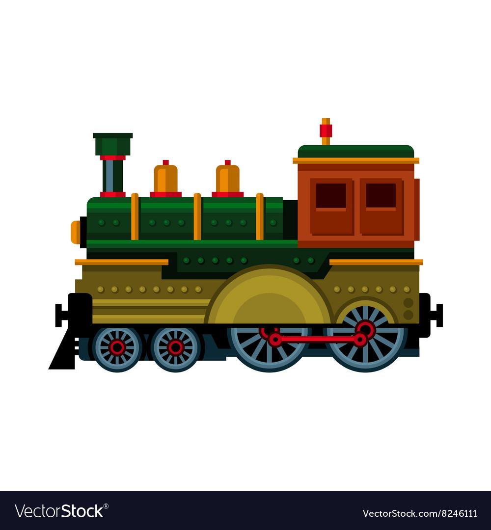 Retro Train Steam Locomotive Icon