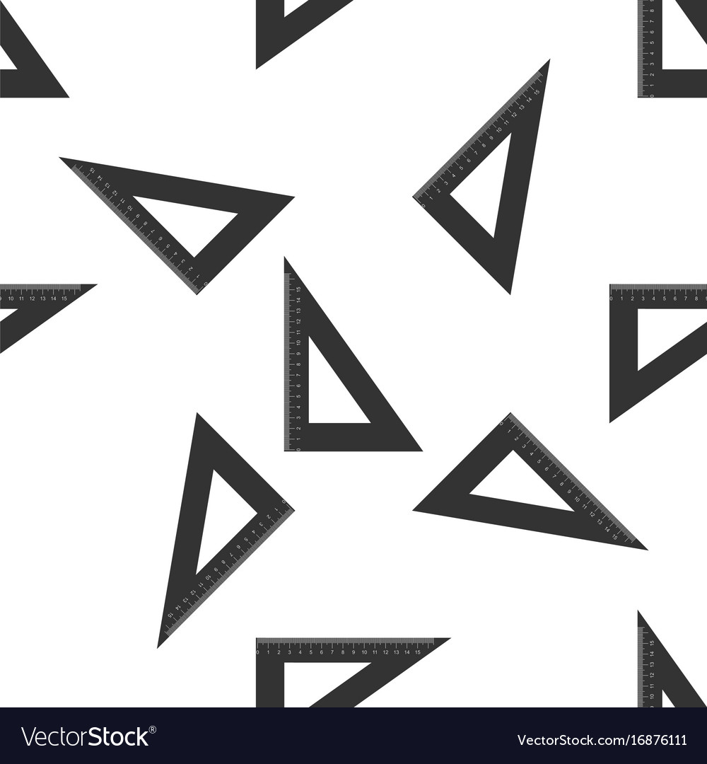 Straightedge symbol ruler icon seamless pattern