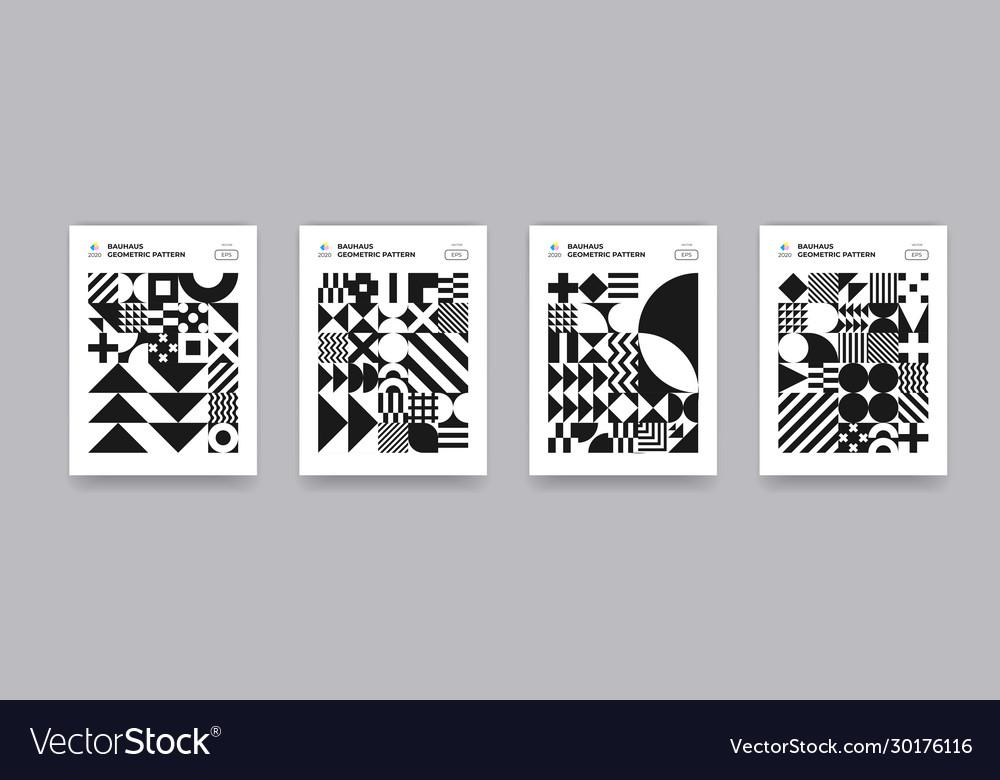 Abstract geometric shapes pattern bauhaus