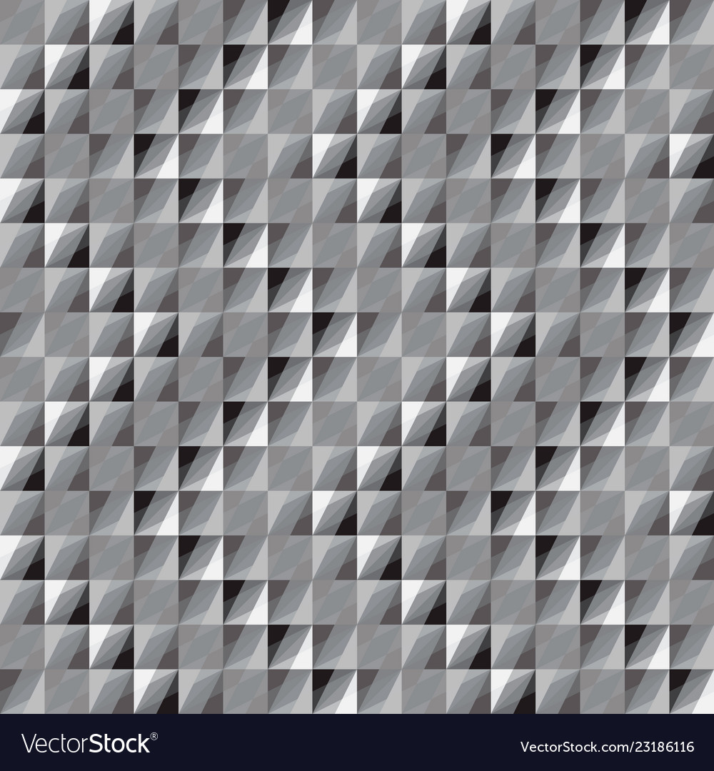 Abstract seamless pattern of monochrome squares