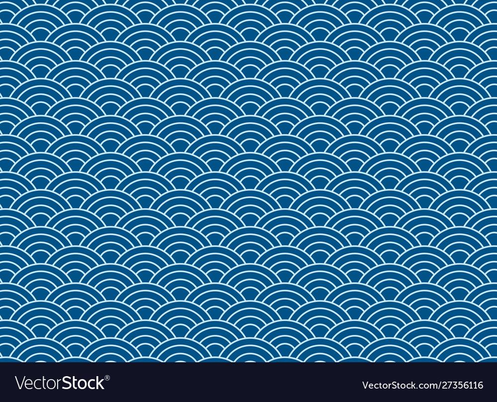 Background blue japanese wave pattern