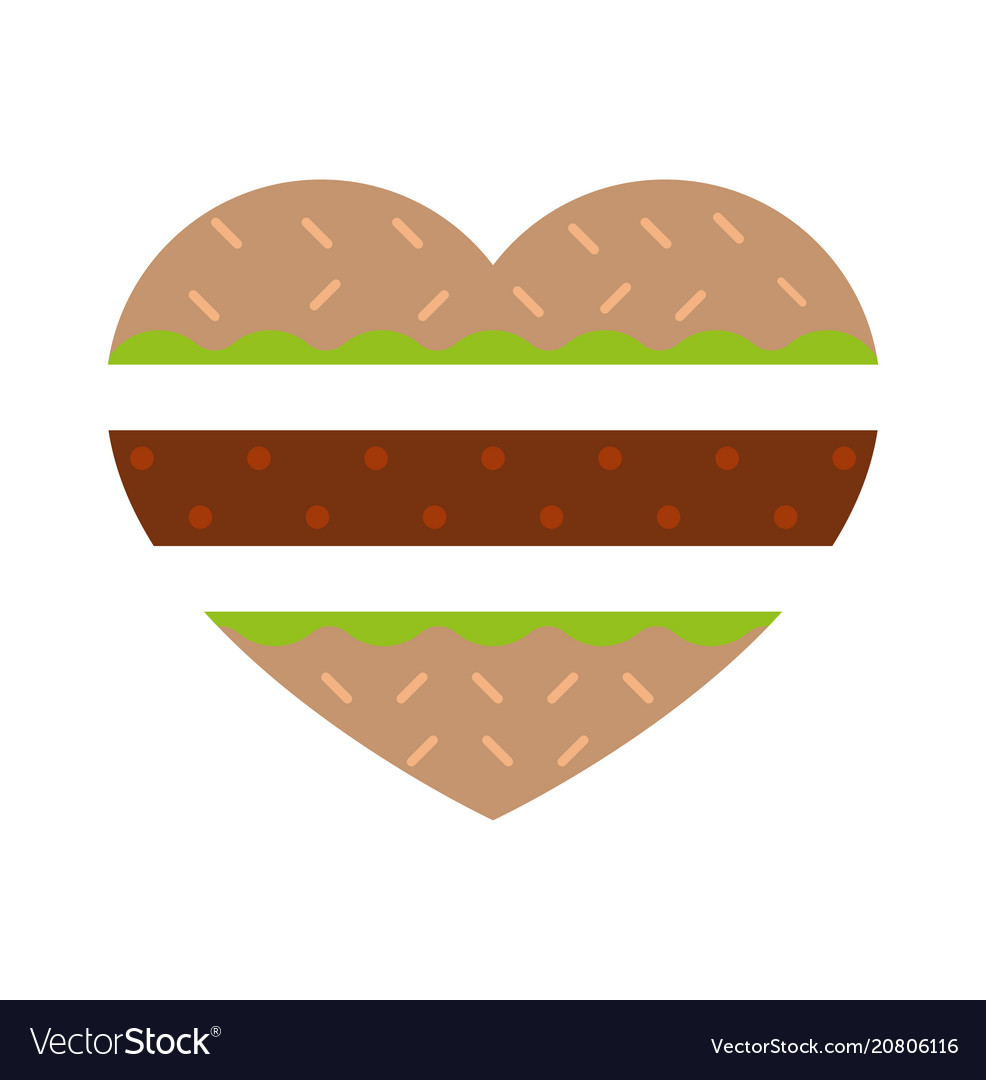 Burger in shape burger vector