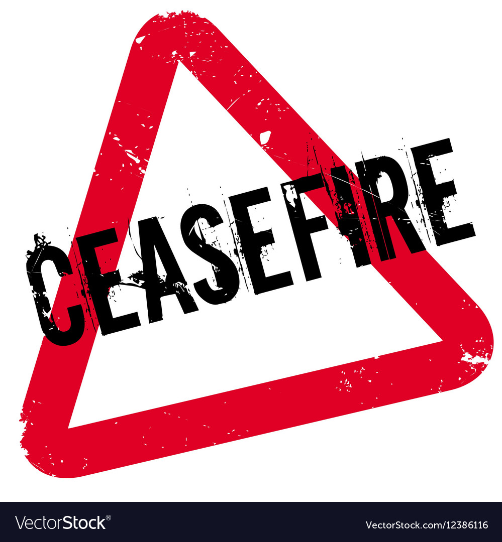 ceasefire rubber stamp royalty free vector image