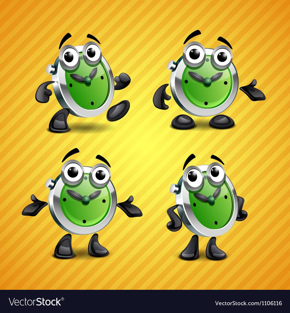 Clock mascot vector image
