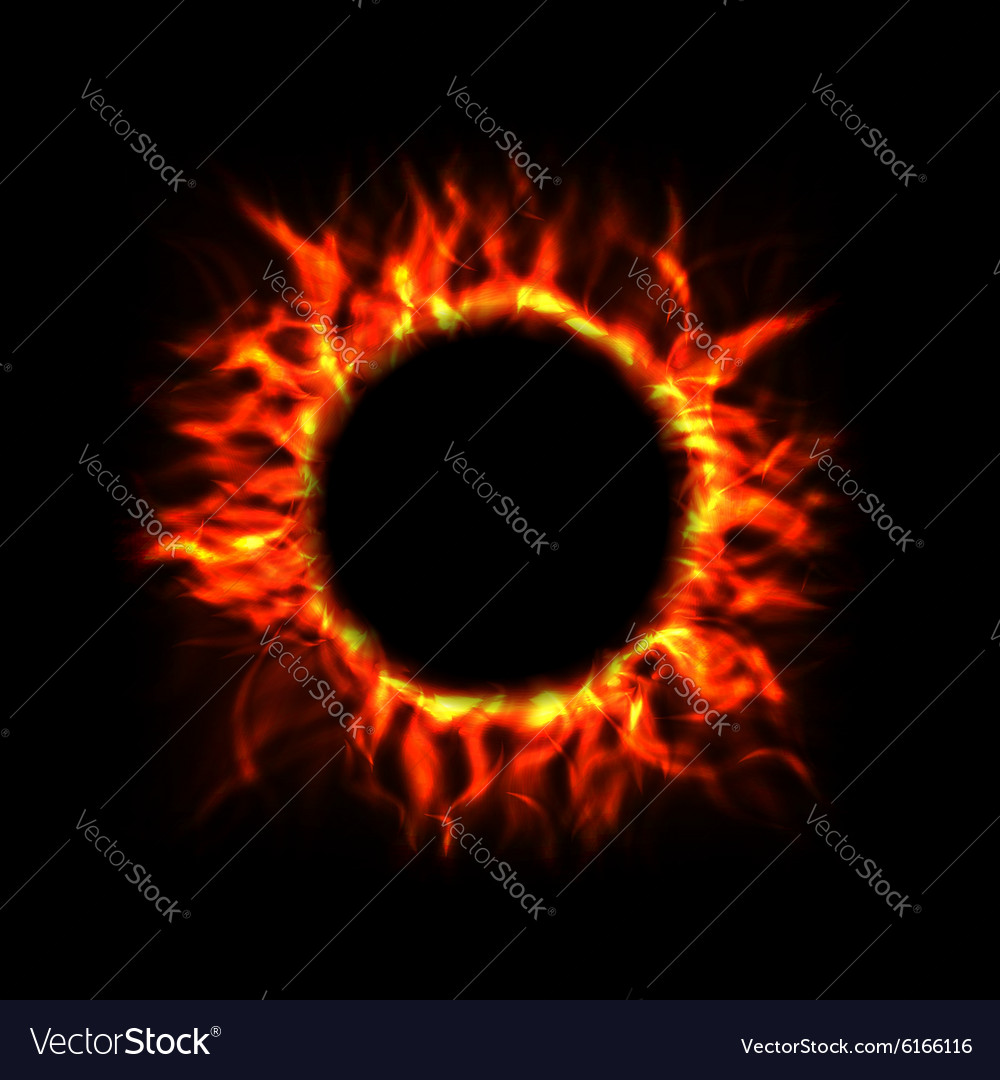Fire Circle vector image