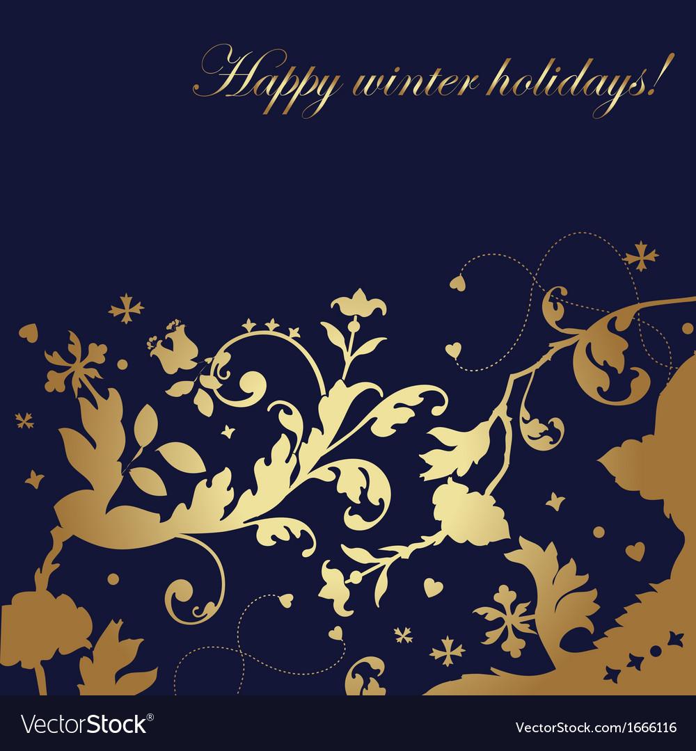 Happy winter holidays card royalty free vector image happy winter holidays card vector image m4hsunfo