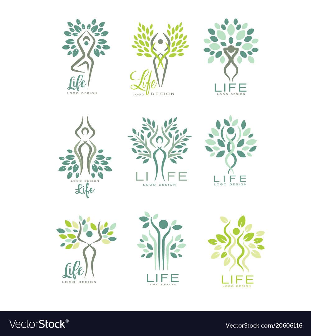 Healthy life logo for wellness center spa salon