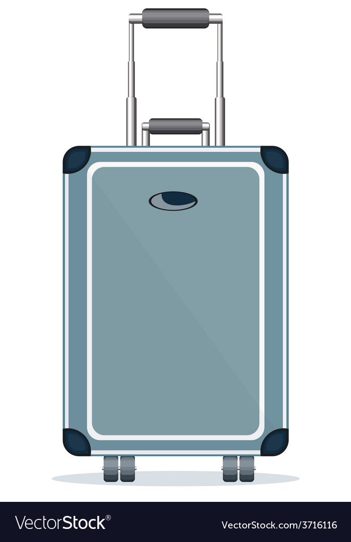 Suitcase isolated on a white background vector image