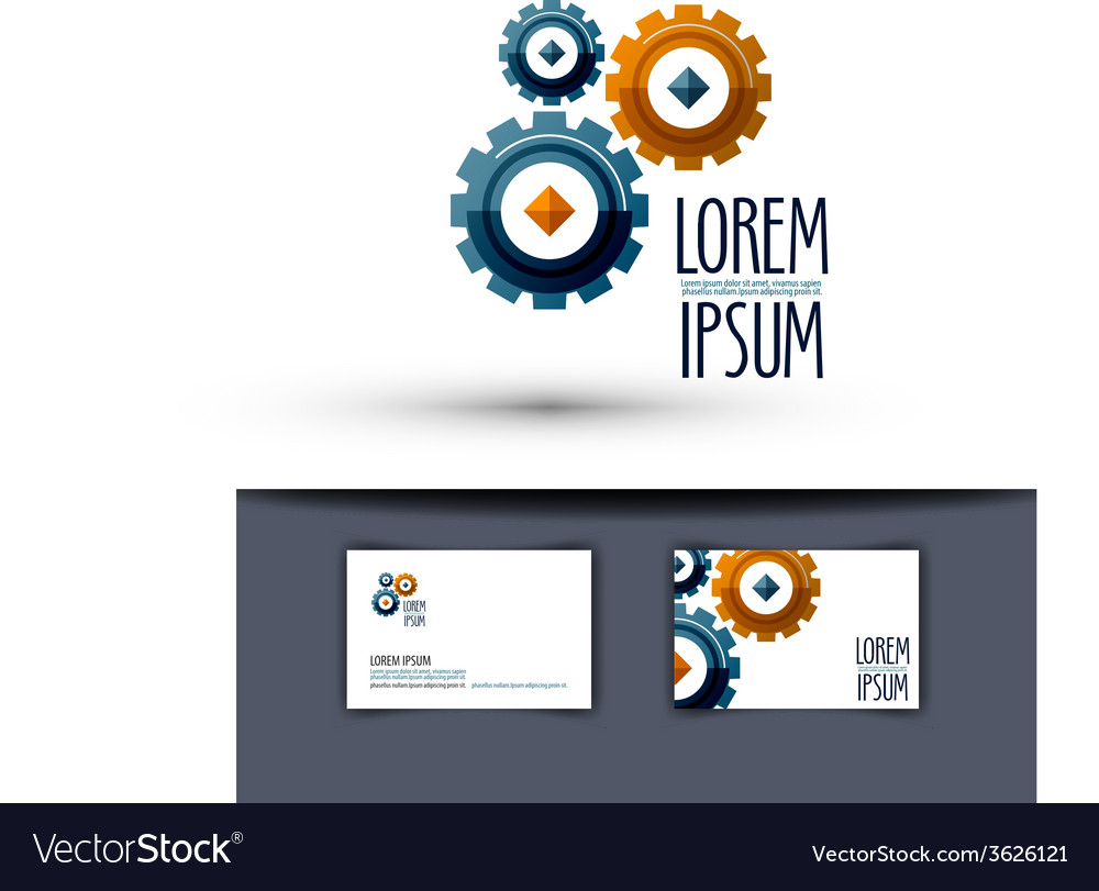 Business logo design template Gear or work icon