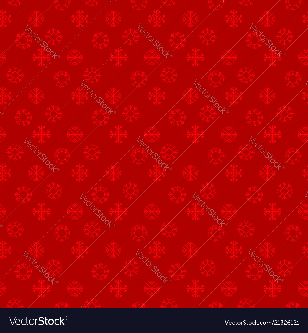 Chrismtas pattern of snow flakes red background