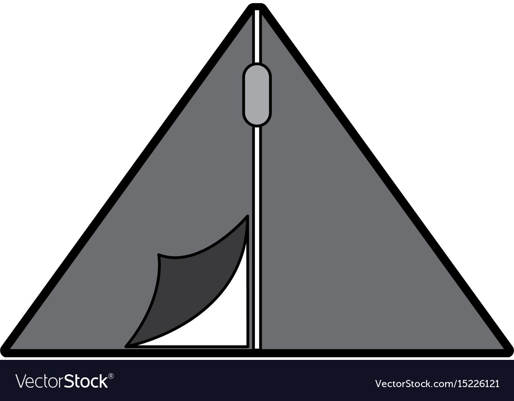 Cute camping tent cartoon vector image