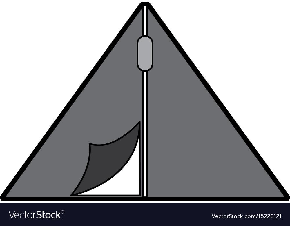 Cute camping tent cartoon